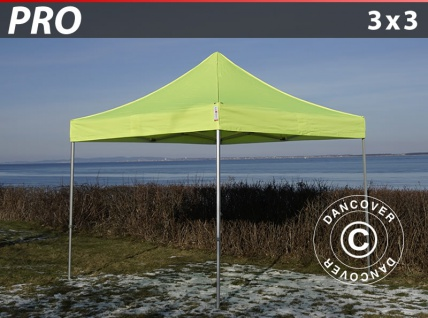 Faltzelt Faltpavillon Wasserdicht FleXtents PRO 3x3m Neongelb/Grün