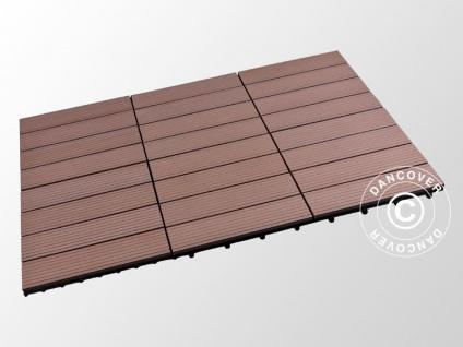 Terrassenfliesen WPC, 0, 3x0, 3m, Braun (6 St./Box)