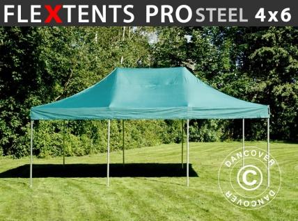 Faltzelt Faltpavillon Wasserdicht FleXtents PRO Steel 4x6m Grün