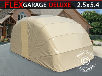 Faltgarage (Auto), 2, 5x5, 4x2m, beige