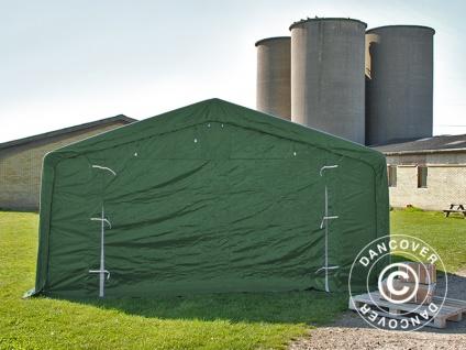 Zeltgarage Garagenzelt PRO 5x10x2x2, 9m, PVC, Grün - Vorschau 3