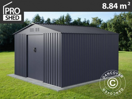 Geräteschuppen Metallgerätehaus 2, 77x3, 19x1, 92m ProShed®, Anthrazit