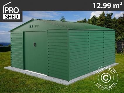 Geräteschuppen Metallgerätehaus 3, 4x3, 82x2, 05m ProShed®, Grün
