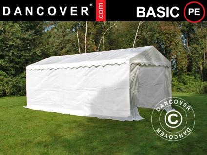 Lagerzelt Zeltgarage Garagenzelt-Basic 2-in-1, 4x6m PE, Weiß