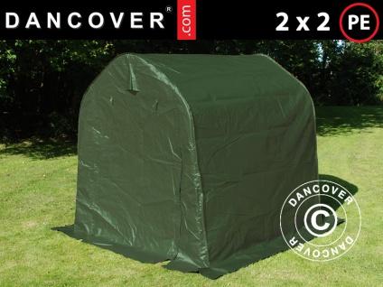Lagerzelt Zeltgarage Garagenzelt PRO 2x2x2m PE, Grün