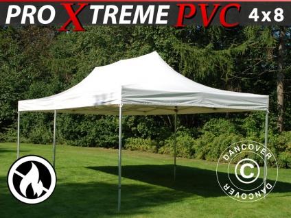 Faltzelt Faltpavillon Wasserdicht FleXtents Xtreme Heavy Duty 4x8m, Weiß