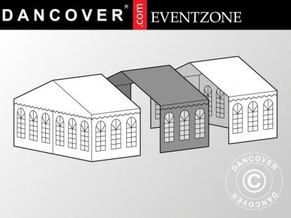 3m-Erweiterung für professionelles Partyzelt Festzelt EventZone 6x6m PVC, Weiß