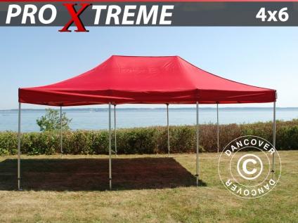 Faltzelt Faltpavillon Wasserdicht FleXtents Xtreme 4x6m Rot