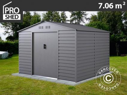 Geräteschuppen Metallgerätehaus 2, 77x2, 55x1, 98m ProShed®, Aluminium Grau