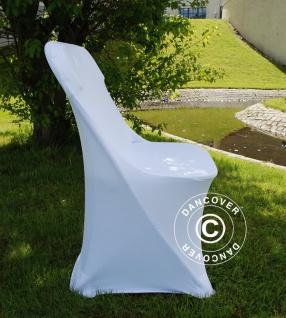 Stretch Stuhlüberzug 44x44x80cm, Weiß (1 stck.) - Vorschau 2