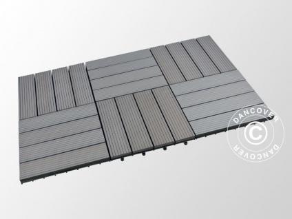 Terrassenfliesen WPC, 0, 3x0, 3m, Dunkelgrau (6 St./Box)