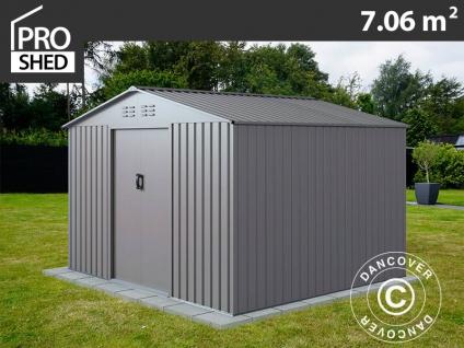 Geräteschuppen Metallgerätehaus 2, 77x2, 55x1, 92m ProShed®, Aluminium Grau