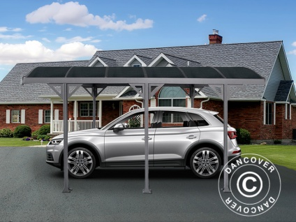 Carport Boston, 3, 02x4, 37m, Dunkelgrau