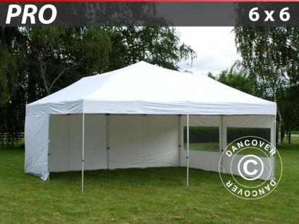 Faltzelt FleXtents PRO 6x6m Weiß, mit 8 wänden