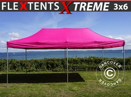 Faltzelt Faltpavillon Wasserdicht FleXtents Xtreme 3x6m Rosa