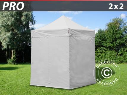 Faltzelt FleXtents PRO 2x2m Weiß, mit 4 wänden