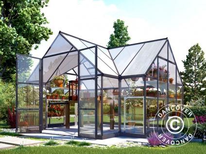 Orangerie Polycarbonat VICTORY, 10, 41m², 3, 66x3, 05x2, 69m, Grau - Vorschau 3