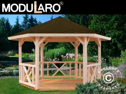 Holzpavillon, 3, 37x3, 37x3, 13m, 9, 9m², Natur