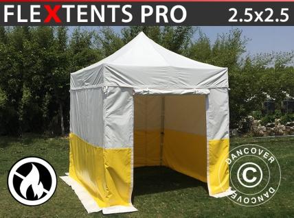 Faltzelt Faltpavillon Wasserdicht FleXtents® PRO 2, 5x2, 5m, PVC, Arbeitszelt, flammfest, inkl. 4 Seitenwände