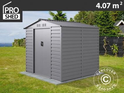 Geräteschuppen Metallgerätehaus 2, 13x1, 91x1, 90m ProShed®, Aluminium Grau