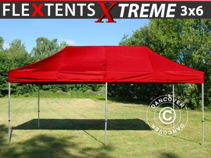 Faltzelt Faltpavillon Wasserdicht FleXtents Xtreme 3x6m Rot