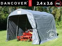 Lagerzelt Zeltgarage Lagerzelt Garagenzelt Garagenzelt PRO 2, 4x3, 6x2, 34m PVC, Grau
