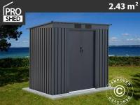 Geräteschuppen Metallgerätehaus mit Flachdach 2, 01x1, 21x1, 76m ProShed, Anthrazit