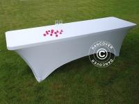 Stretch Tischüberzug 244x75x74cm, Weiß