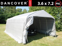 Zeltgarage Lagerzelt Garagenzelt PRO 3, 6x7, 2x2, 68m PVC, Grau