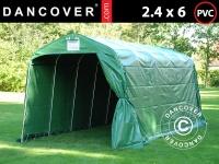 Lagerzelt Zeltgarage Lagerzelt Garagenzelt Garagenzelt PRO 2, 4x6x2, 34m PVC, Grün