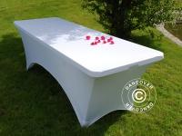 Stretch Tischüberzug, 200x90x74cm, Weiß