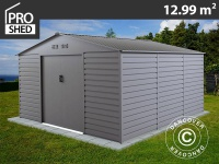 Geräteschuppen Metallgerätehaus 3, 4x3, 82x2, 05m ProShed, Aluminium Grau