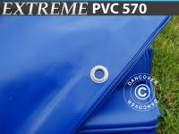 Plane Abdeckplane 10x12m, PVC 570g/m², Blau