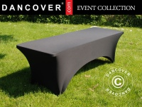 Stretch Tischüberzug, 200x90x74cm, Schwarz