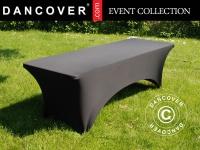 Stretch Tischüberzug 200x90x74cm, Schwarz