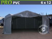 Lagerzelt PRO 6x12x3, 7m PVC, Grau