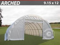 Rundbogenhalle Lagerzelt Zeltgarage Lagerzelt Garagenzelt Garagenzelt 9, 15x12x4, 5m PVC, Weiß
