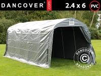 Lagerzelt Zeltgarage Lagerzelt Garagenzelt Garagenzelt PRO 2, 4x6x2, 34m PVC, Grau