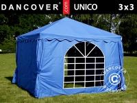 Partyzelt Festzelt Pavillon UNICO 3x3m, Blau
