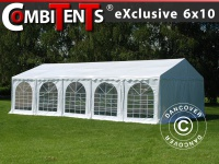 Partyzelt festzelt, Exclusive CombiTents® 6x10m, 3-in-1, Weiß