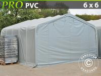 Lagerzelt Garagen PRO 6x6x3, 7m PVC, Grau