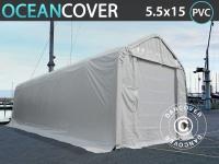 Lagerzelt Zeltgarage Lagerzelt Garagenzelt Garagenzelt Oceancover Bootszelt 5, 5x15x4, 1x5, 3m, PVC, Weiß