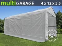Zelthalle multiGarage Bootszelt 4x12x4, 5x5, 5m, Weiß