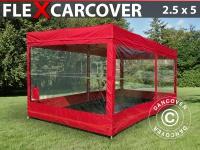 Faltgarage FleX Carcover, 2, 5x5m, Rot