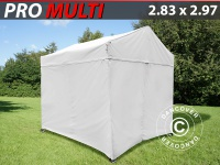 Faltzelt FleXtents Multi 2, 83x2, 97m Weiß, mit 4 Wänden