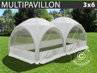 Kuppelzelt Multipavillon 3x6m, Weiß