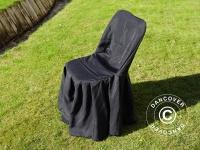 Stuhlhusse für 44x44x80cm Stuhl, Schwarz