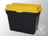 Hochleistungsfähige Aufbewahrungsbox, Elephant XXL, 80x51x62cm, schwarz/gelb
