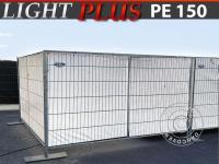 Bauzaunplane 1, 76x3, 41m, PE 150g/m², Weiß