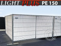 Bauzaunplane 1, 76x3, 41m PE 150 g/m² Weiß
